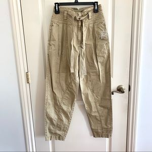 NEW Free People Khaki Utility Jogger Pants Green 2